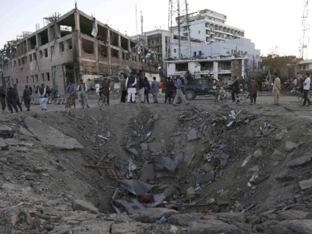 Kabul Afghanistan crater (Rahman Gul / Associated Press)