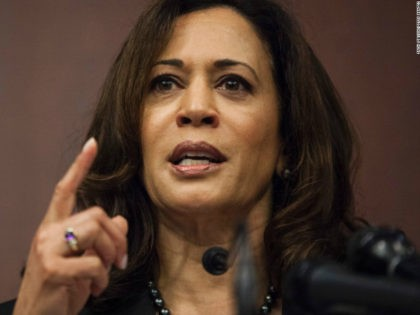 Sen. Kamala Harris (D-CA) speaks during a news conference on Capitol Hill on March 28, 2017 in Washington, D.C. The news conference, which worked with the National Council of La Raza, discussed whose parents had been deported (Photo by Zach Gibson/Getty Images)