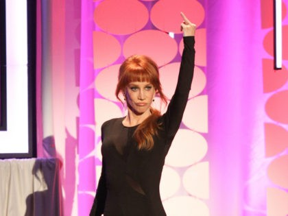 Kathy Griffin hosts the 15th Annual Movies for Grownups Awards at the Beverly Wilshire Hotel on Monday, Feb. 8, 2016, in Beverly Hills, Calif.