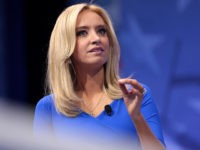 Kayleigh McEnany speaking at the 2017 Conservative Political Action Conference (CPAC) in National Harbor, Maryland.