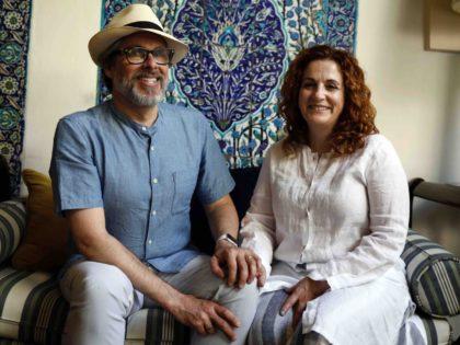 Michael Chabon and Ayelet Waldman 2 (Menahem Kahana / AFP / Getty)
