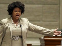 FILE - In this Sept. 10, 2014, file photo, Missouri state Sen. Maria Chappelle-Nadal speaks on the Senate floor in Jefferson City, Mo. Chappelle-Nadal says she posted and then deleted a comment on Facebook that said she hoped for President Donald Trump's assassination. The Democratic Senator says she didn't mean …