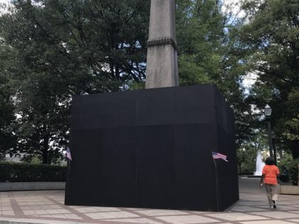A Confederate monument in Birmingham, AL's Linn Park was ordered covered by the city's mayor earlier this week