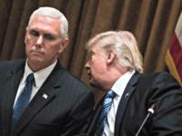 Pence Listens to Trump BRENDAN SMIALOWSKI, AFPGetty Images