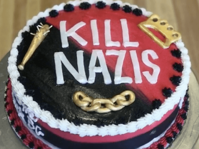 Kill Nazis cake (AshleyShotwellCakes / Instagram)