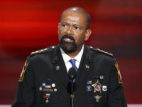 In this July 18, 2016, file photo, Milwaukee County, Wis. Sheriff David Clarke speaks at the Republican National Convention in Cleveland. The Department of Homeland Security says Milwaukee Clarke is no longer a candidate for a position in the agency. In May 2017 Clarke said he was taking a job …