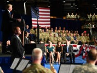 President Trump delivers speech about Afghanistan stragegy on August 21, 2017.