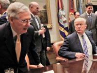 Trump Stares at McConnell Pablo Martinez MonsivaisAP