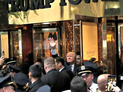 Trump at Trump Tower MIKE SEGAR Reuters