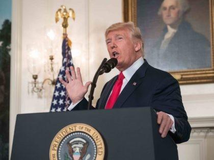 Trump denounces (Nicholas Kamm / AFP / Getty)