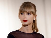 FILE - In this Oct. 12, 2103 file photo, Taylor Swift appears at the Country Music Hall of Fame and Museum in Nashville, Tenn. David Mueller, a former radio host, claims in a lawsuit that he lost his job because Swift falsely accused him of groping her. Swift has countersued, …