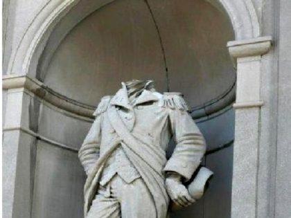 William Crawford Statue Beheaded