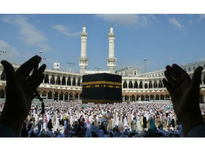 Muslim pilgrims perform the final walk (Tawaf al-Wadaa) around the Kaaba at the Grand Mosque in the Saudi holy city of Mecca on November 30, 2009. The annual Muslim hajj pilgrimage to Mecca wound up without the feared mass outbreak of swine flu, Saudi authorities said, reporting a total of …