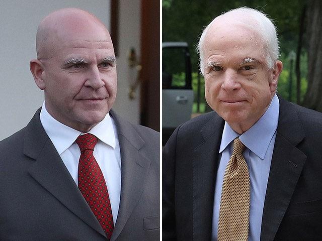 H.R. McMaster and Sen. John McCain.