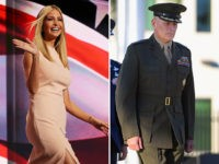 Ivanka Trump, daughter to President Donald Trump, and General John F. Kelly, the Trump White House Chief of Staff.