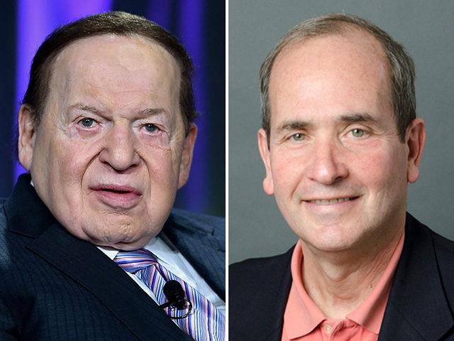 Sheldon Adelson and James Warren, Chief Media Writer for Poynter.