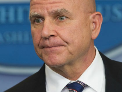 "US National Security Adviser H. R. McMaster speaks during a briefing in the Brady Press Briefing Room of the White House in Washington, DC, May 16, 2017. McMaster on Tuesday denied that US President Donald Trump had caused a ""lapse in national security"" following reports he disclosed highly-classified information about …"