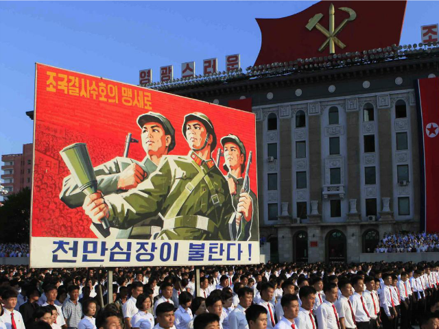 North Korea Fills Pyongyang Square for Anti-America Rally