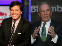 Tucker Carlson and Michael Bloomberg