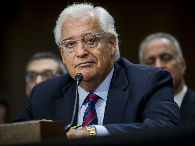 David Friedman, ambassador to Israel nominee for U.S. President Donald Trump, listens during a Senate Foreign Relations Committee confirmation hearing in Washington, D.C., U.S., on Thursday, Feb. 16, 2017. Friedman, the combative bankruptcy lawyer Trump tapped as his envoy to Israel, said he regretted using 'inflammatory rhetoric' during the divisive 2016 presidential campaign, but didn't specify which remarks he apologized for. Photographer: Pete Marovich/Bloomberg via Getty Images