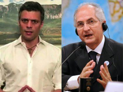 Venezuelan opposition leaders Leopoldo Lopez (L) and Antonio Ledezma -- who were both under house arrest -- were taken back to jail, sparking international anger