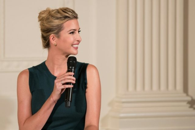 Ivanka Trump speaks during an event with small businesses at the White House in Washington, DC, on August 1, 2017