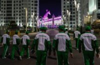 Turkmenistan built the 40.05-metre-tall horse head ahead of the 2017 Asian Indoor and Martial Arts Games in Ashgabat