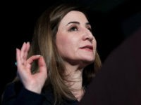 Vian Dakhil, an Iraqi lawmaker and internationally renowned activist who has been called the militant group ISIS's 'most wanted' woman, gives a speech after receiving the Lantos Human Rights Prize on Capitol Hill in Washington, DC, February 8, 2017. / AFP / JIM WATSON (Photo credit should read JIM WATSON/AFP/Getty …