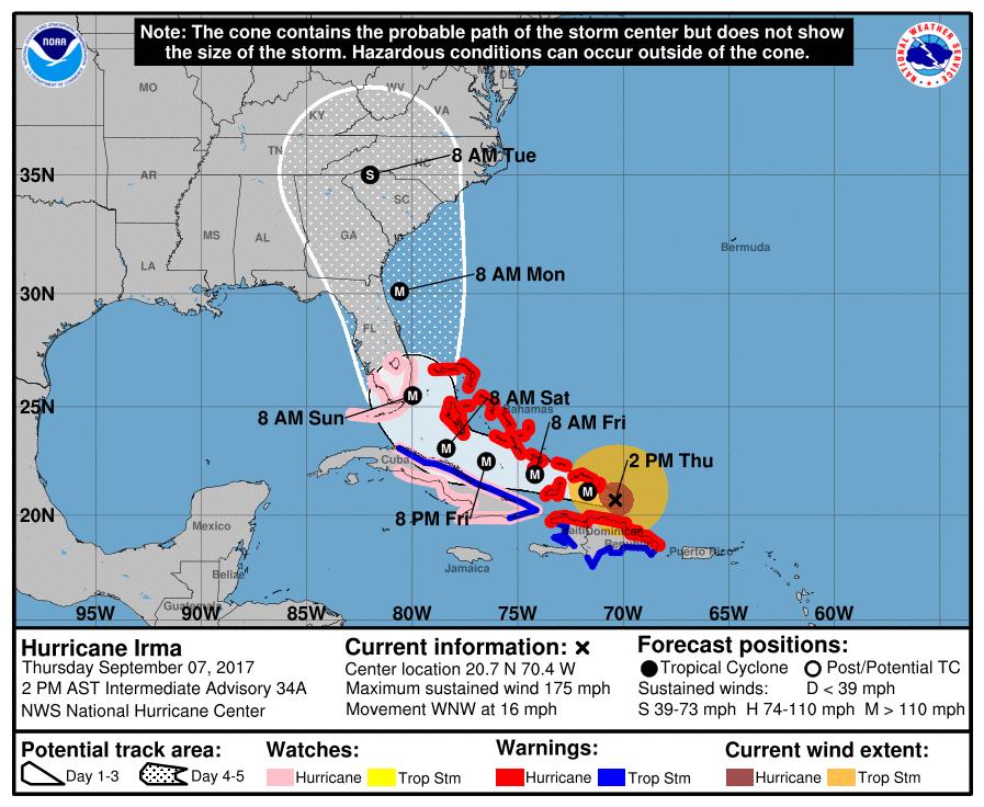 Nine dead as Hurricane Irma rips through Caribbean