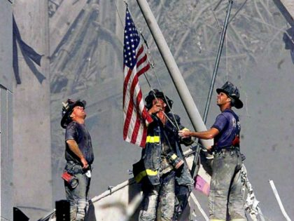 911 firefighters, flag Thomas E. FranklinAP