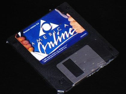 AOL Disk commonly sent through mail