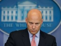 Marc Short, White House director for legislative affairs, listens to a question during an off-camera press briefing at the White House in Washington, Monday, July 10, 2017.