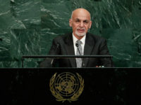 Afghanistan's President Ashraf Ghani Ahmadzai addresses the United Nations General Assembly Tuesday, Sept. 19, 2017, at the United Nations headquarters. (AP Photo/Frank Franklin II)