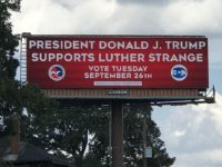 Pro-Amnesty U.S. Chamber of Commerce Touts Trump Support of Luther Strange on Giant Birmingham Billboard