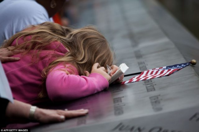 Child Mourns 9/11 AFP:Getty