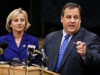 Governor elect Chris Christie answers a question as he stands with Lt. governor elect Kim Guadagno at the Robert Treat Academy charter school Wednesday, Nov. 4, 2009, in Newark, N.J., the day after he won over incumbent Jon S. Corzine. Christie said with the visit to the highly successful school, …