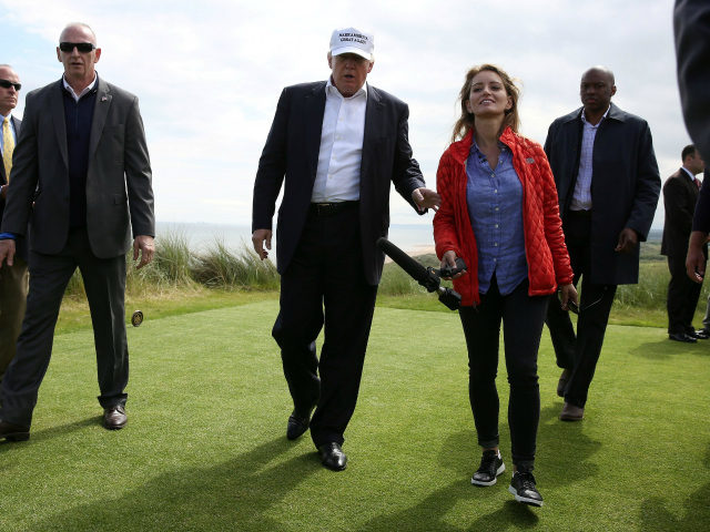 Donald Trump and Katy Tur