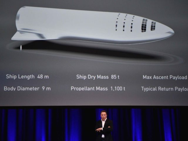 Elon Musk SpaceX BFR (Peter Parks / AFP / Getty)