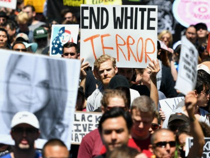 EndWhiteTerrorSign-SanFrancisco-Free-Speech-August-2017-AP