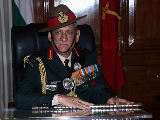 Indian army chief warns of two-front war with China, Pakistan