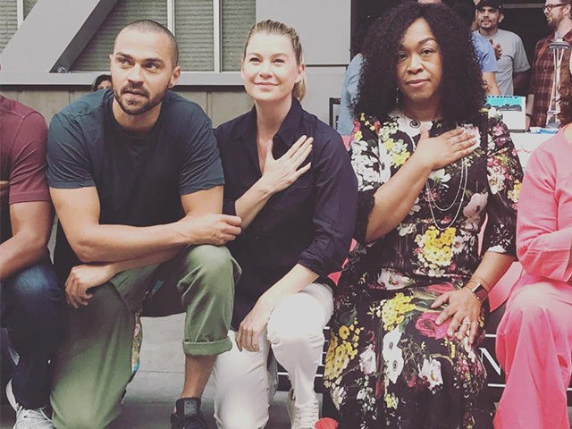 Greys Anatomy Cast Takes Knee For Racial Justice Photo