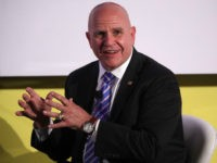 National Security Adviser H.R. McMaster participates in a discussion during the Center for a New American Security '2017 Navigating the Divide Conference' June 28, 2017 in Washington, DC. Secretary of Homeland Security John Kelly announced new security measures that apply to more airports worldwide to enhance airline passenger screening for …