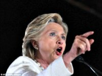 Hillary Hollers and Finger Points AFPGetty