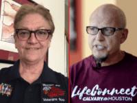 Reitired Navy Vet, Jewish Lesbian Carmen Hix and Calvary Houston Pastor Ron HIndt.