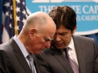 Jerry Brown and Kevin de Leon (Justin Sullivan / Getty)