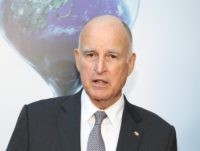 Jerry Brown globe (Jonathan Leibson / Getty)