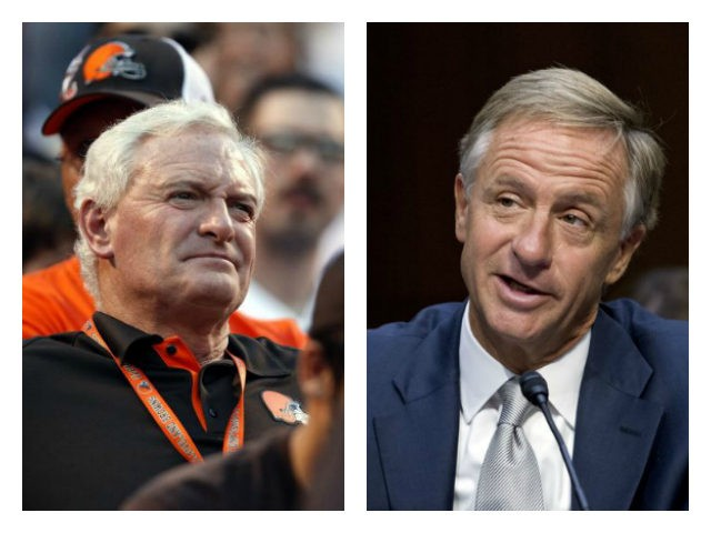 Cleveland Browns owner Jimmy Haslam and his brother TN Gov. Bill Haslam collage