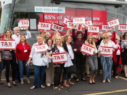 Job Creators Network nationwide TaxCutsNow bus tour stop in Tulsa, Oklahoma.