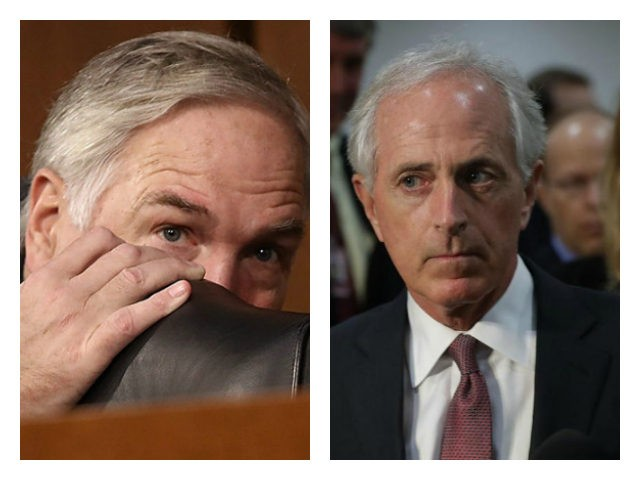 Luther Strange and Bob Corker collage