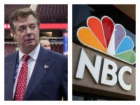 Collage of Manafort and NBC building
